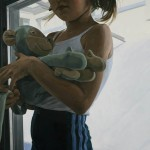 "Surrogate Monkey, 66"" x 50"" oil on linen, 2007"